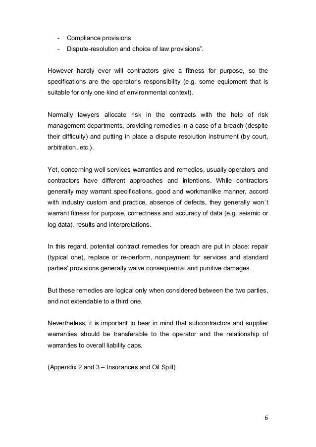 Oil and Gas Contract Law_Contratual Risks Operators and Contrators_De…