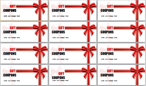 gift coupon template microsoft : Selimtd