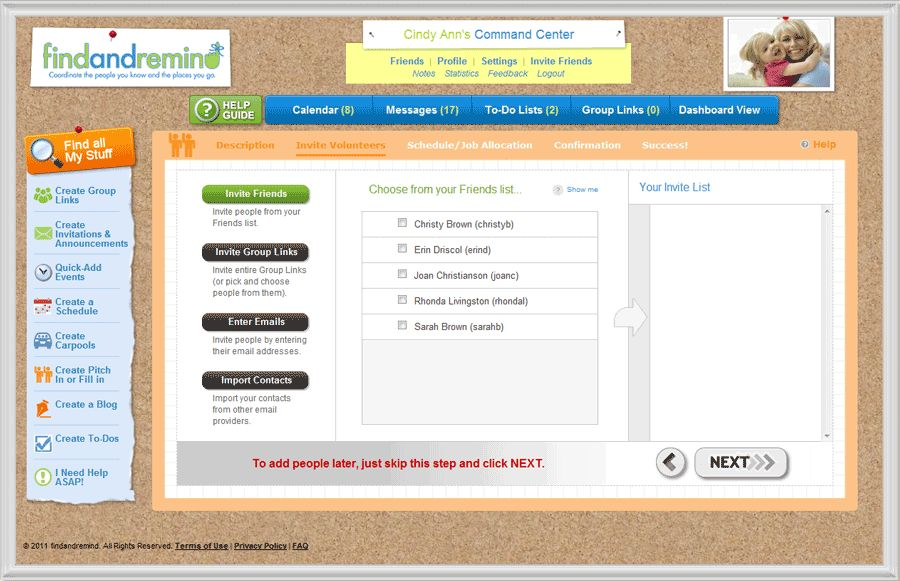 Free Online Sign Up Sheets from findandremind