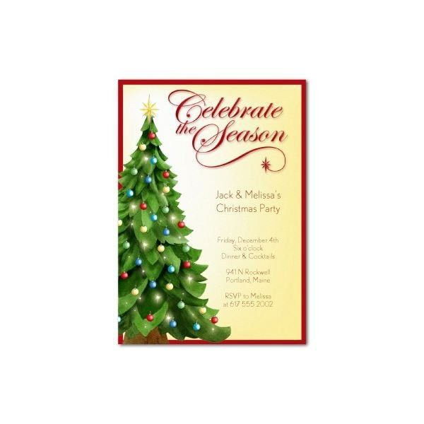 Christmas Party Invitation Templates Free Word 2017   Best ...