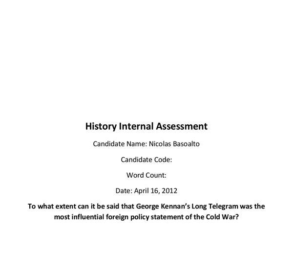 History IA - George Kennan's long telegram - International ...