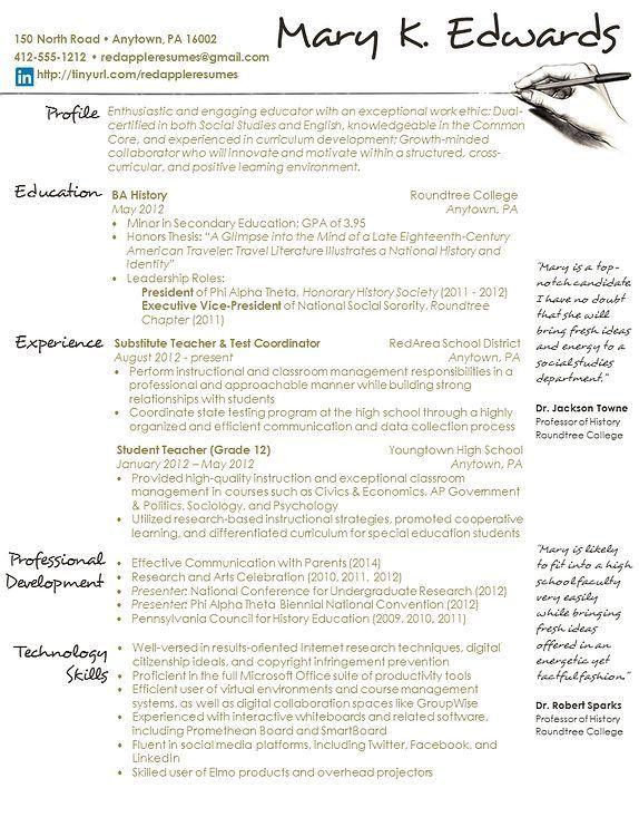 92 best Résumé images on Pinterest   Job interviews, Student ...