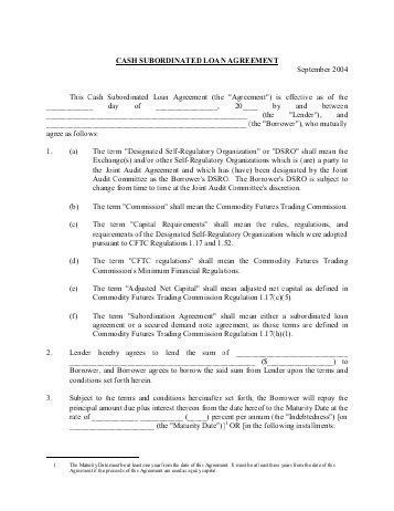 Sample Subordination Agreement Template. Developmental Counseling ...