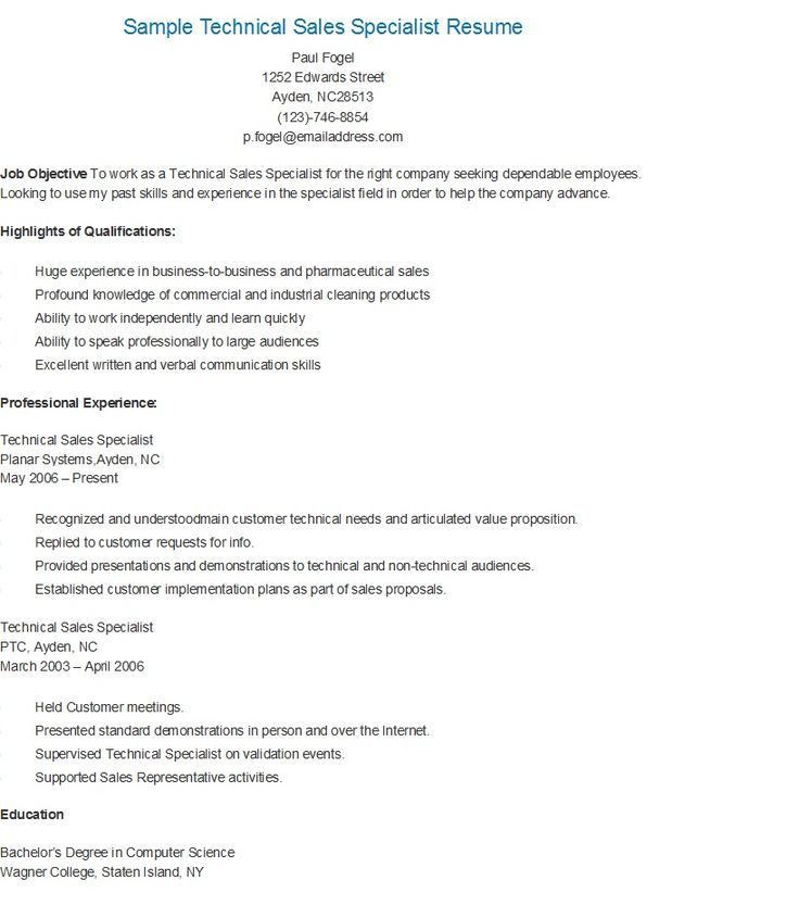 sample sales resumes this free software sales specialist resume ...