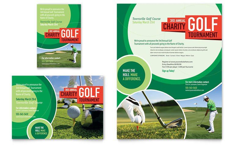 Golf Tournament Flyer & Ad Template - Word & Publisher