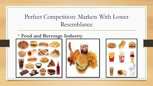 Markets that resemble perfect competition