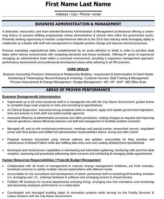 Download Business Administration Resume | haadyaooverbayresort.com