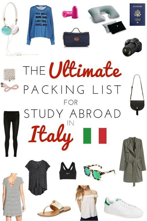 The Ultimate Packing List for Study Abroad in Italy | The College ...