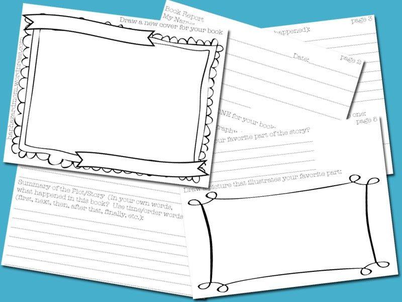 3rd Grade Book Report FREE Printable | Haphazard Mom