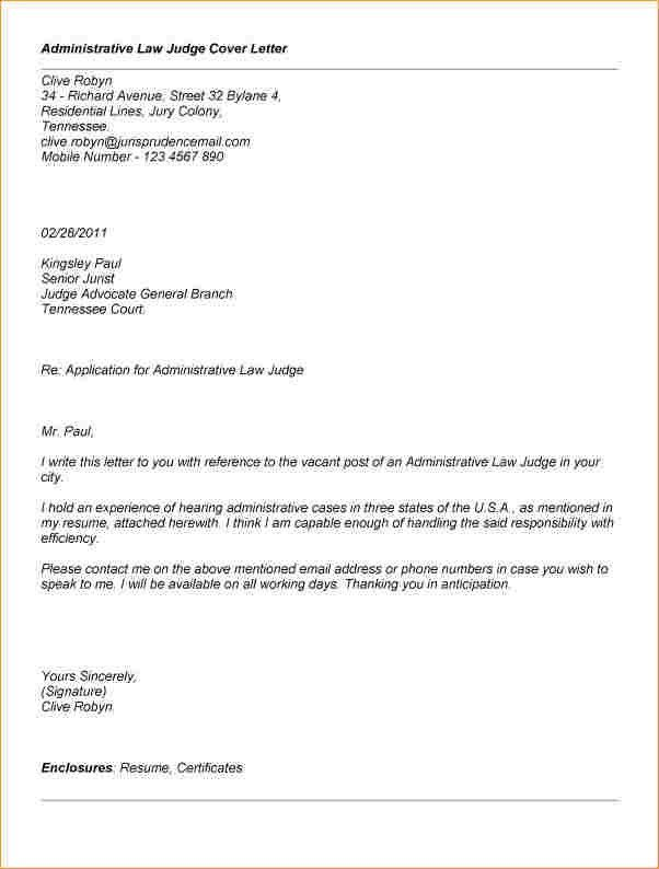 Administrative law judge cover letter administrative law judge administrative letter format business proposal templated spiritdancerdesigns Choice Image