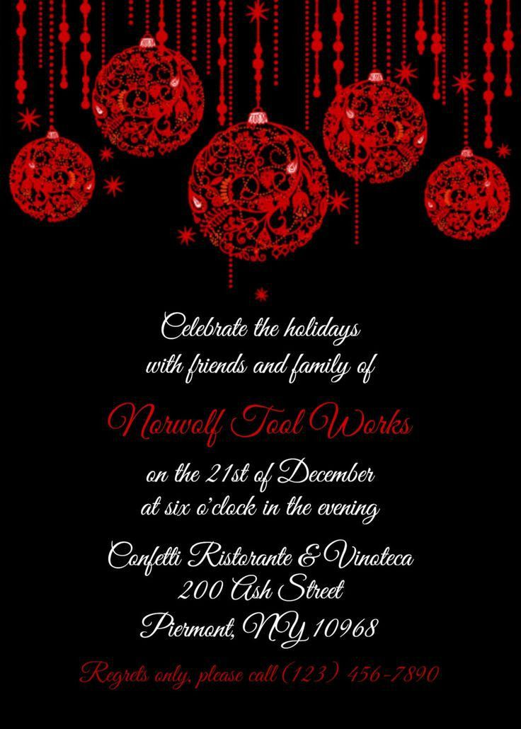 17 best RSCF Holiday party invitations images on Pinterest ...
