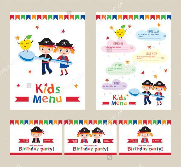 6+ Birthday Party Menu Templates | Free & Premium Templates