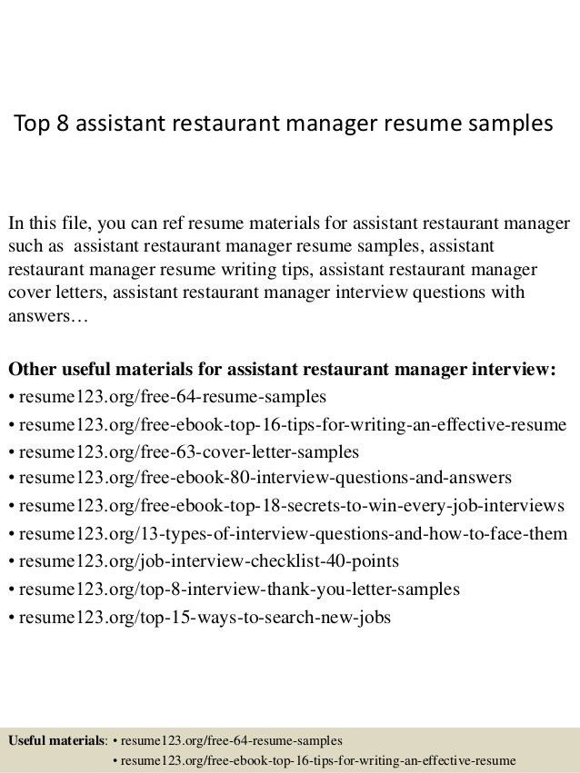 top-8-assistant-restaurant-manager-resume-samples-1-638.jpg?cb=1427853687