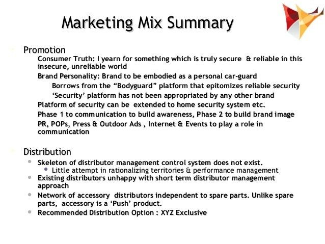 Marketing Strategy : Marketing Mix Development Example Of Car Acce…