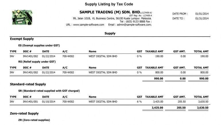 Example Invoice Gst Malaysia | Design Invoice Template