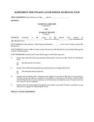 Saskatchewan Residential Lease and Tenancy Forms | Legal Forms and ...