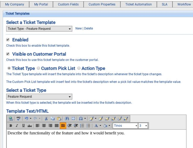 Ticket Templates - Customer Support Software Documentation - 1