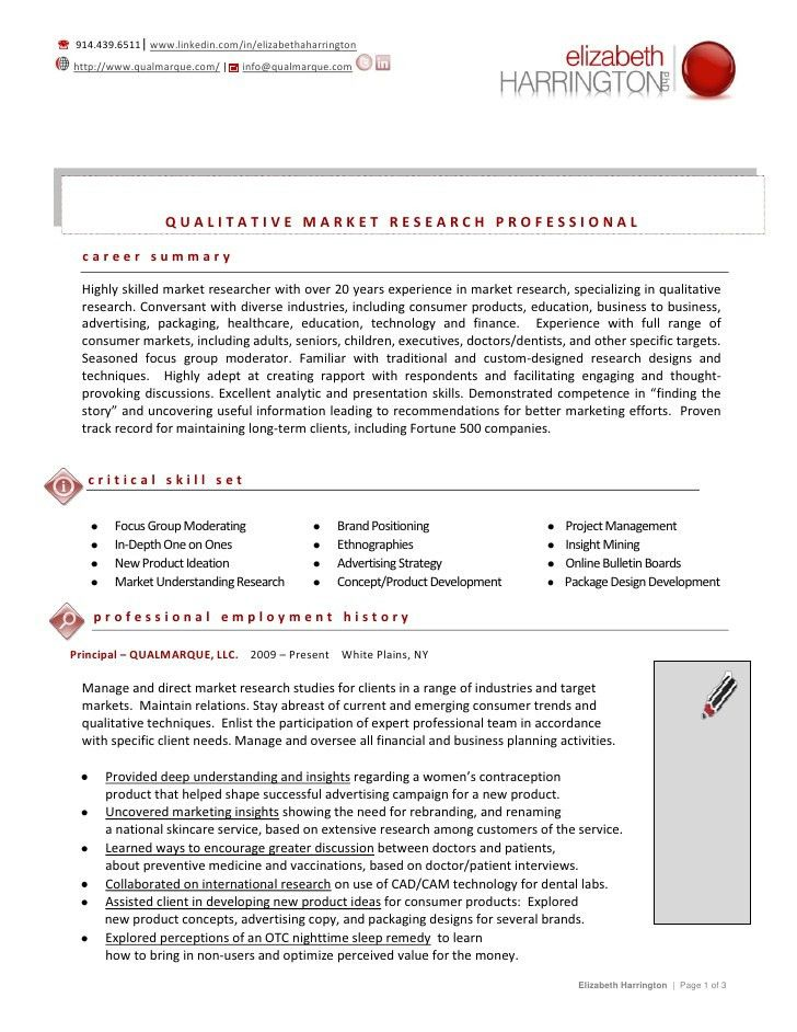 Elizabeth Harrington Resume June 2012