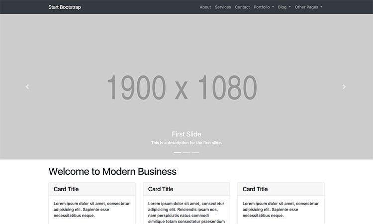 Free Bootstrap Portfolio Themes & Templates - Start Bootstrap