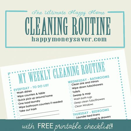 My Ultimate Happy HOME Cleaning Routine Plus FREE Printable ...