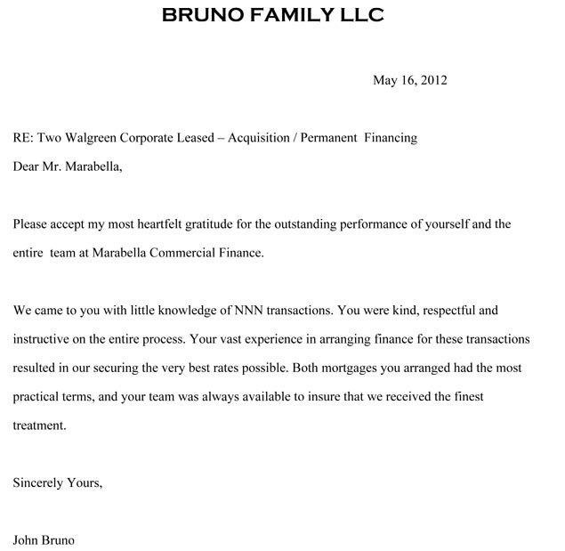 John Bruno | Bruno Family, LLC. | Letter of Reference | Marabella ...