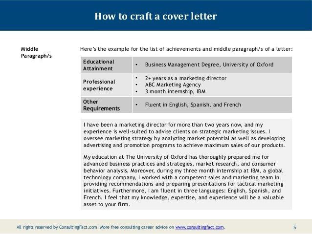 Consulting Cover Letter Examples