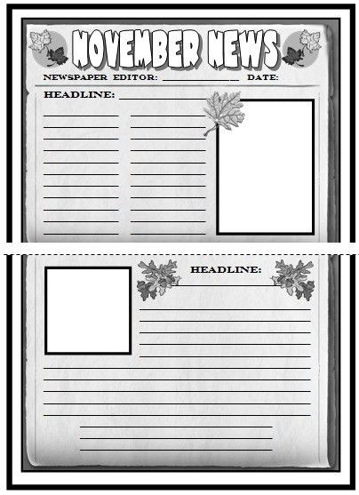 Newspaper Templates For Kids. Editable Newspaper Layout Powerpoint ...