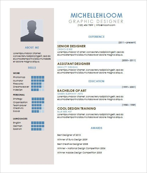 Contemporary Resume Template – 4+ Free Word, Excel, PDF Format ...