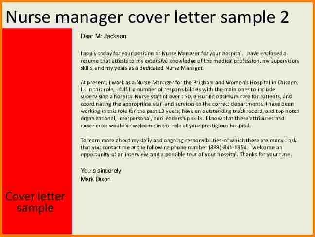 5+ nurse manager cover letter | quote templates
