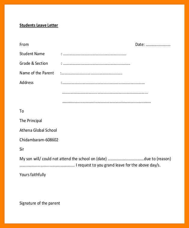 3+ school leave letter for fever my son | simple cv formate