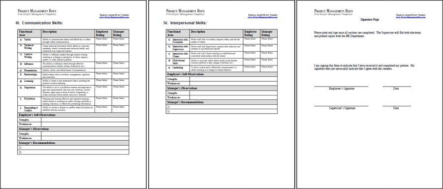 Employee Annual Review Template