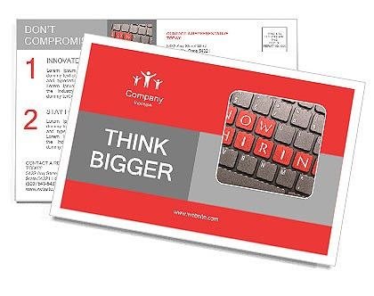 Now hiring on keyboard Postcard Template & Design ID 0000009666 ...