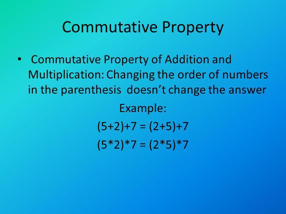 Properties of Algebra By: Zoe Gaffney. Associative Property ...