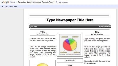 28+ Google Docs Newspaper Template | Newspaper Template For Google ...