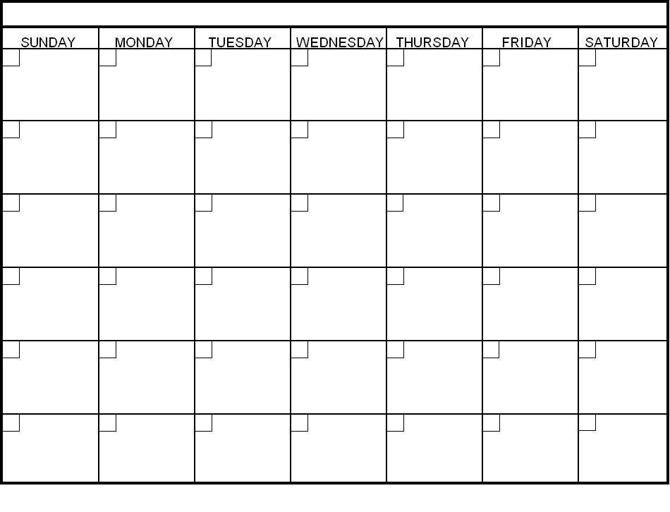Free Monthly Blank Calendar Template Printable PDF Word Excel Notes