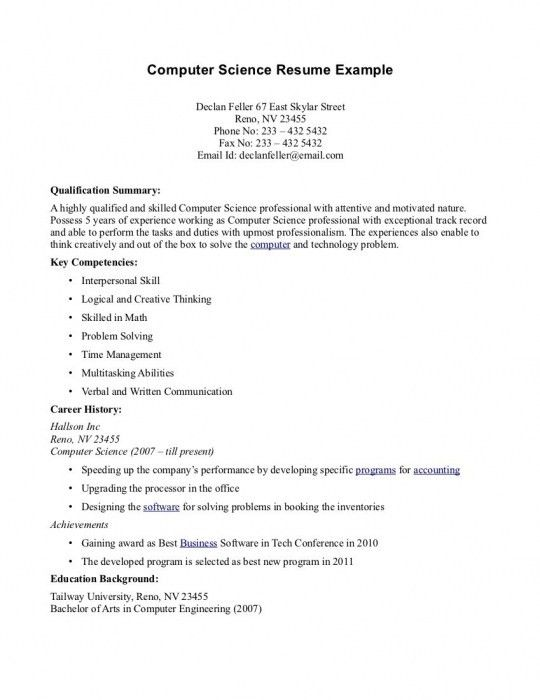 nice computer science resume photos download science resume