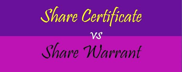 Difference Between Share Certificate and Share Warrant (with ...
