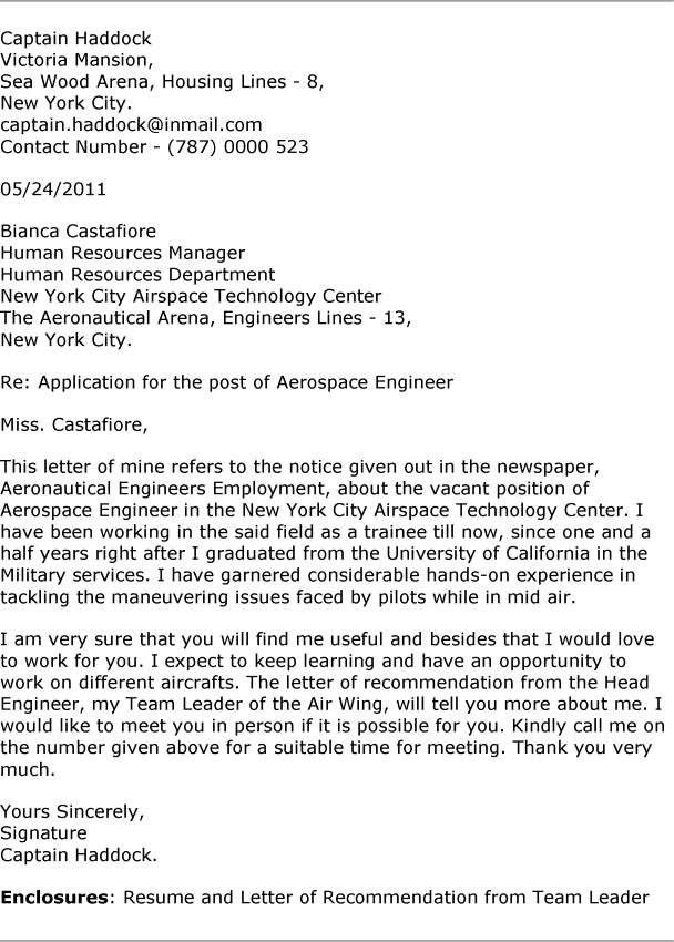 Experienced Mechanical Engineer Cover Letter