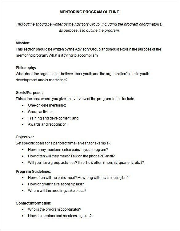 Program Outline Template - 9+ Free Sample, Example, Format ...