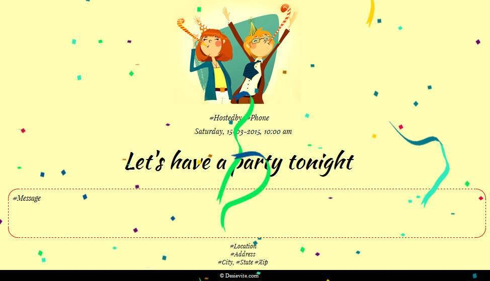 Free Parties Invitation Card & Online Invitations