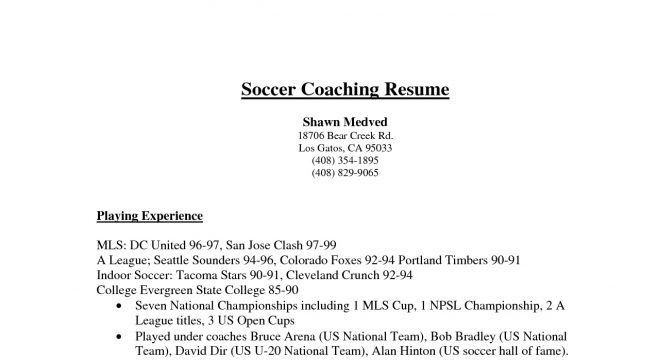 soccer coaching resume 1258 httptopresume info20150112 college ...