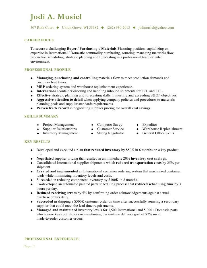 resume for food service manager
