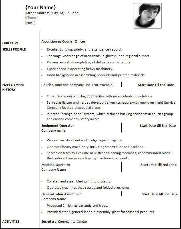 resume template download mac - Resume Template Download Mac