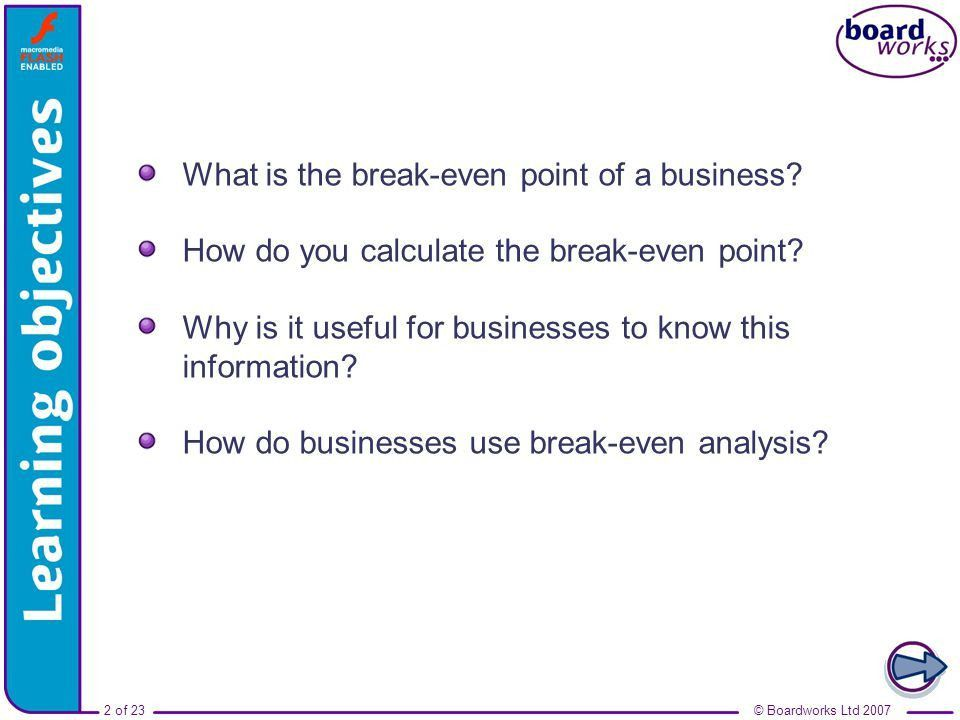 Break Even Analysis Template The Free Website Templates