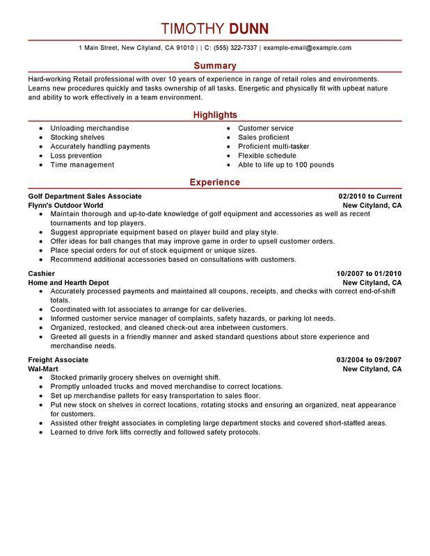 Impactful Professional Retail Resume Examples & Resources ...