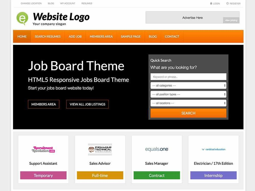 24+ Best Job Board WordPress Themes & Plugins 2017 - aThemes