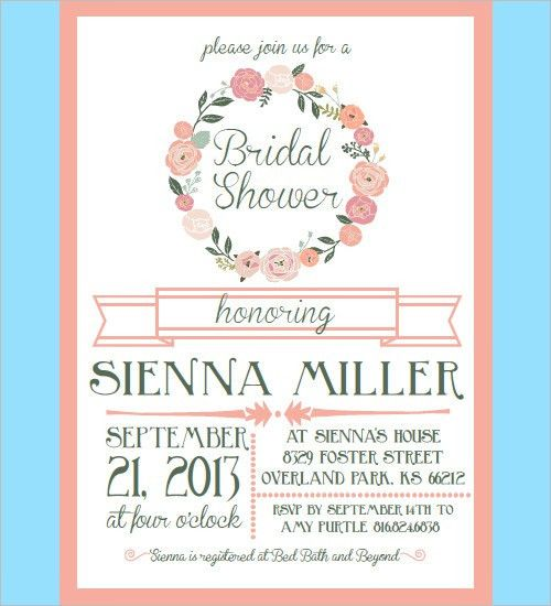 Wedding Shower Invitation Template – gangcraft.net