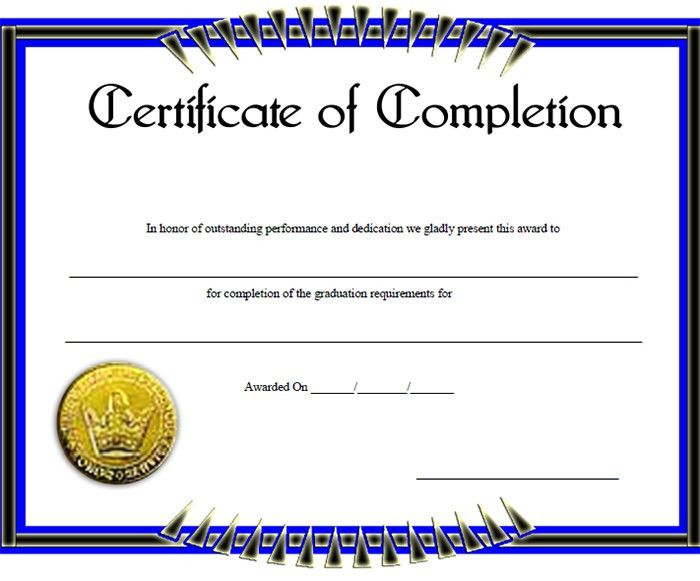 Certificate of Completion Template – 31+ Free Word, PDF, PSD, EPS ...