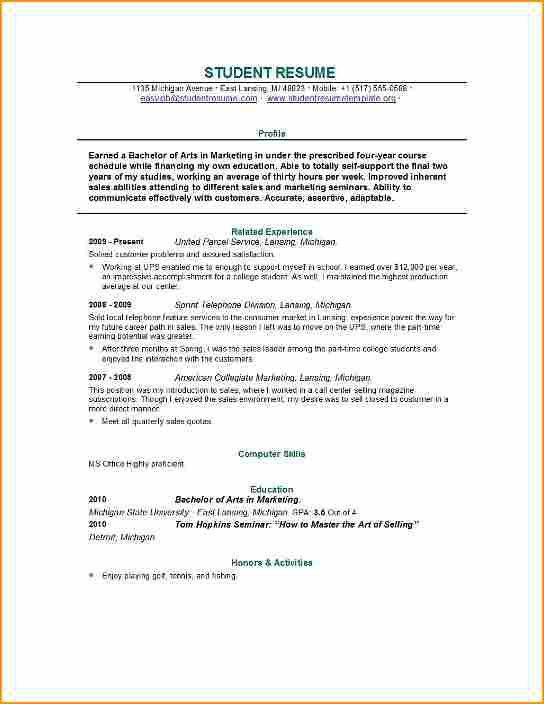 11+ college student resume for job - Basic Job Appication Letter