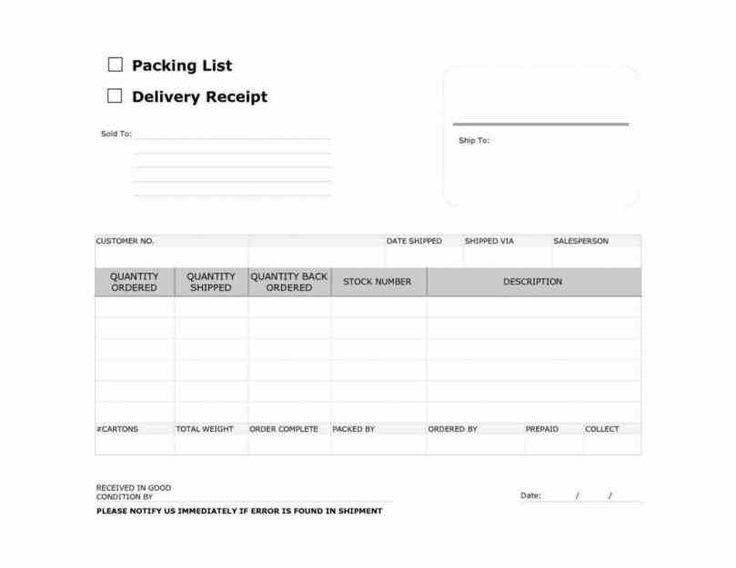 Hand Delivery Receipt Delivery Receipt Template 10 Free Sample – Delivery Order Form